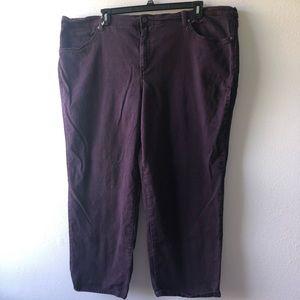 Gloria Vanderbilt Amanda Purple Jeans Size 26short